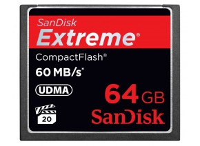 SanDisk Compact Flash 64GB Extreme 60MB/s