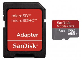 SanDisk Micro SDHC 16GB Mobile Ultra