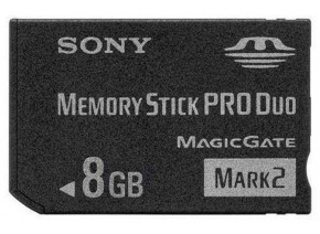 Sony Memory Stick ProDuo 8GB Mark2