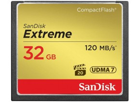 SanDisk Compact Flash 32GB Extreme 120MB/s