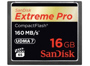 SanDisk Compact Flash 16GB Extreme Pro 160MB/s