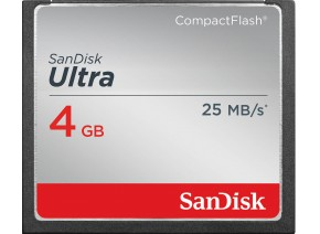 SanDisk Compact Flash 4GB Ultra 25MB/s