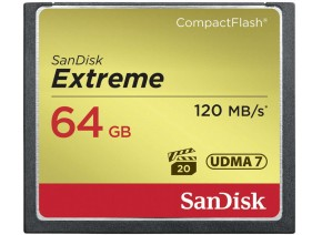 SanDisk Compact Flash 64GB Extreme 120MB/s