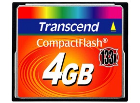 Transcend Compact Flash 4GB 20MB/s