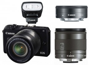 Canon EOS M2 + 11-22 IS STM + 18-55 IS STM + 22 STM + 90EX