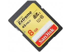 SanDisk SDHC 8GB Extreme 45MB/s