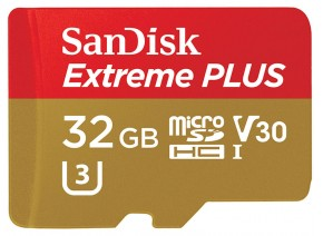 SanDisk Micro SDHC 32GB Extreme Plus 90MB/s
