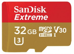 SanDisk Micro SDHC 32GB Extreme 90MB/s