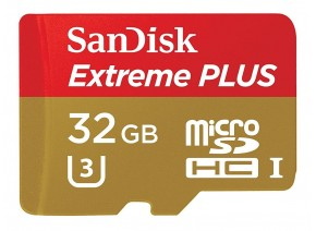SanDisk Micro SDHC 32GB Extreme Plus 80MB/s