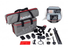 Aputure LS-mini 20 Daylight/Bi-Color 3-Light Flight Kit